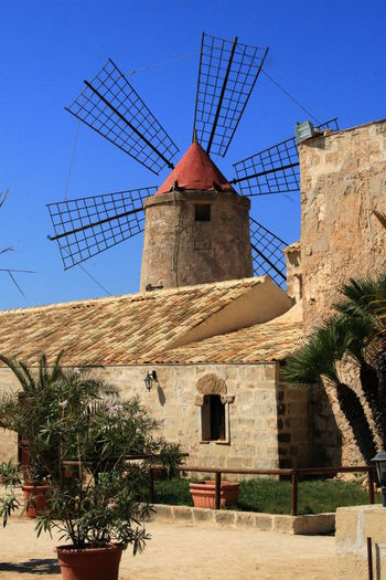 Marsala Salina Sicily Windmill Windmill Of The Day Windmill On Salina Windmill With A Red Roof Windmillpark Windmills #photography