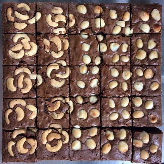 Brownie Full Frame Backgrounds No People Close-up Abundance Large Group Of Objects Food And Drink