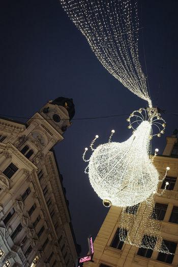 Chandelier Out Illumination Illumination In Vienna Illumination Tree Lighting For New Year New Year 2016