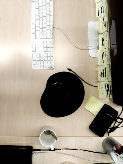 workspace Workspace Desk Keyboard Mouse Mug Coffee Cup PC Desktop Ofice Table Tabletop MyDay Telephone Close-up