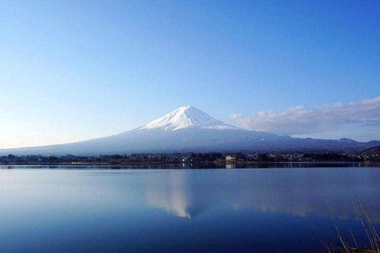 Fuji Mountain Water Snow Nature Blue Sky No People Outdoors Clear Sky Landscape Beauty In Nature Snowcapped Mountain First Eyeem Photo