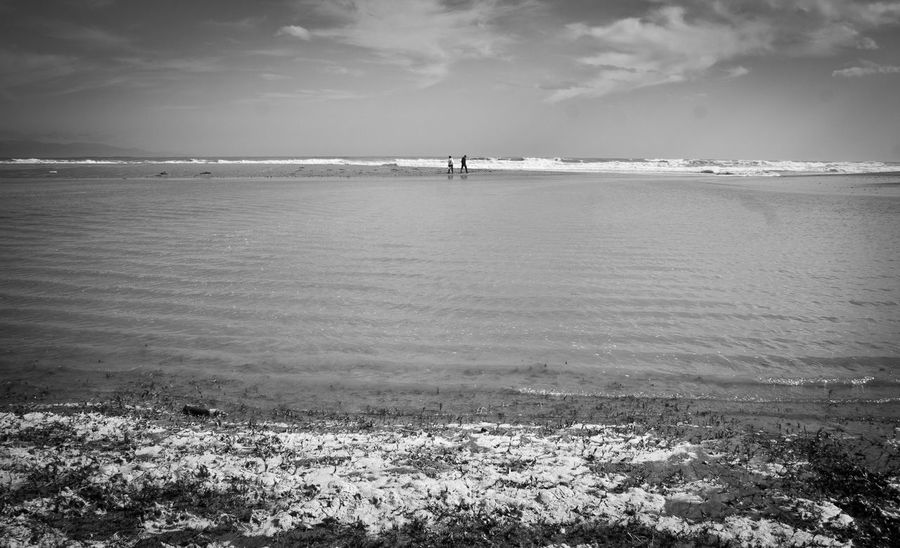 Awash Beach Beauty In Nature Blackandwhite Horizon Over Land Horizon Over Water Horizontal Symmetry Landscape Landscape_Collection Lines Nature Outdoors People Poetto Sardegna Scenics Sea Sea And Sky Seascape Seaside Sky Tranquil Scene Tranquility Water