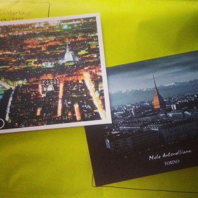 Posta che va Colourmyseptember Yellow Postcards Postcrossing Torino