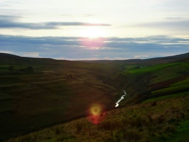 Sunset over Pen-y-ghent Gill. Landscapes In Yorkshire Sunset #sun #clouds #skylovers #sky #nature #beautifulinnature #naturalbeauty #photography #landscape Hiking Nature_collection Landscape_collection EyeEmNatureLover