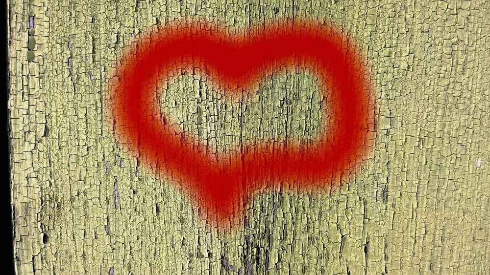 Heart Graffiti ArtWork Yellow Art Love Heart