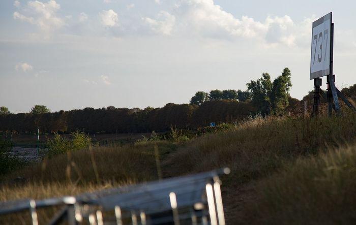 Rhein 737 Sign River Garbage Outdoors Day