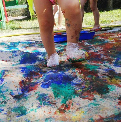 Multi Colored Standing Children Only Childhood Playtime Summercamp2017 Sensoryactivity