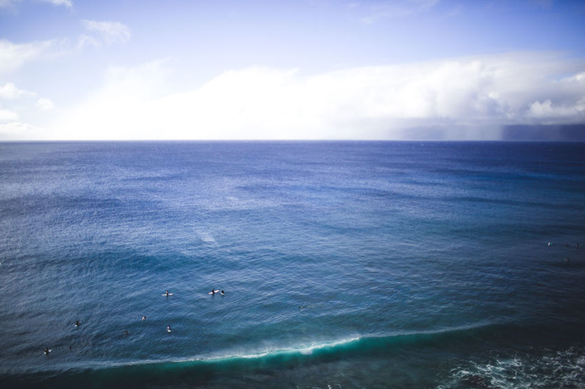 Hawaii Maui Beach Beauty In Nature Blue Cloud - Sky Day Horizon Over Water Nature No People Outdoors Scenics Sea Sky Surfing Surfing Life Surfing Paradise Surfingphotography Tranquil Scene Tranquility Water Wave