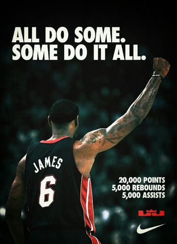 The youngest to ever do it. My man @KingJames #Salute