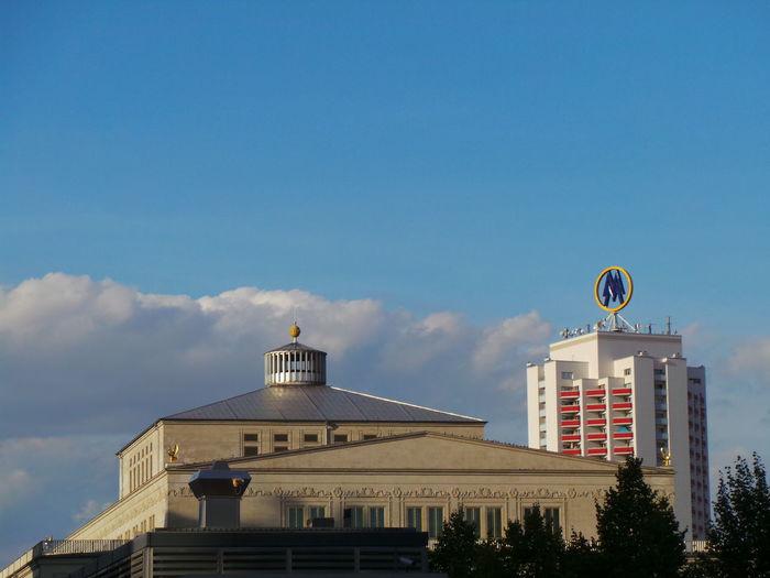 Leipzig Deutschland Blauer Himmel Wolkenhimmel Wolken Clouds Himmel Und Wolken Germany Sky And Clouds Wolken Und Himmel Cloud Oper Wintergartenhochhaus