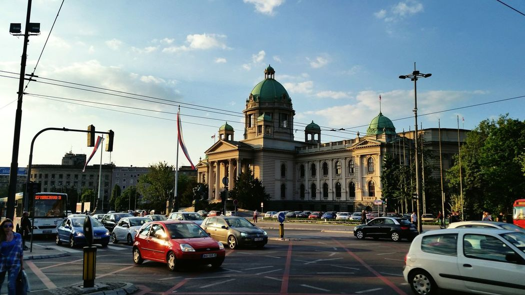 Battle Of The Cities Belgrade Car Architecture Sunset Building Exterior Land Vehicle Street City Sky City Life Cloud Government Building
