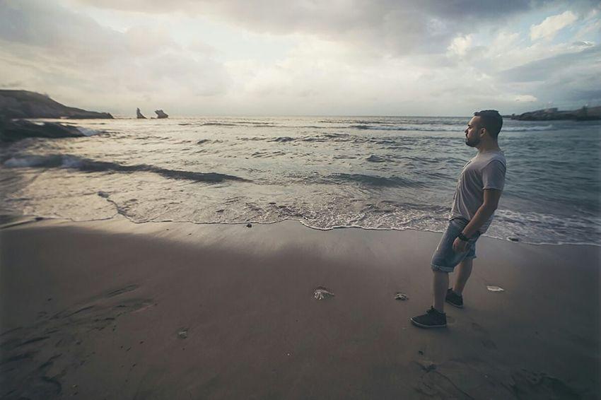 Self Portrait Around The World Beach Sea Waves Sicily Sunset Palermo Selfportrait