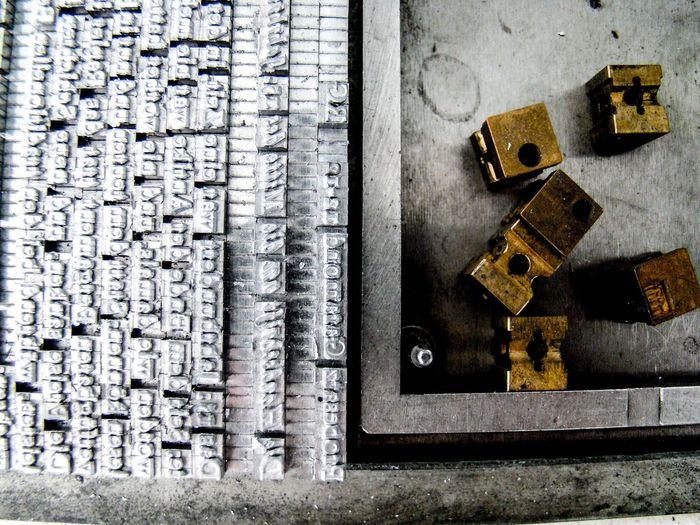 Alphabet Bleisatz Buchdruck Close-up Day Font Handwerk Indoors  Industry Large Group Of Objects Metal No People Old School Schrift Type Typo Vintage Werkstatt