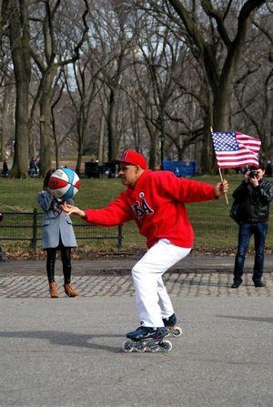 Manhattan CentralPark Skate Stars And Stripes Basketball Rollerblade