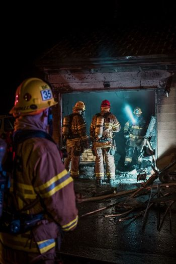 Night Indoors  Illuminated No People Fire Firefighter FireFighting  Firefighters In Action EyeEmNewHere Break The Mold