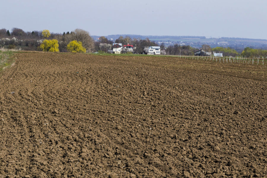 Agriculture Field Landscape Nature No People Outdoors Plowed Field Rural Landscape Rural Scene Tranquility