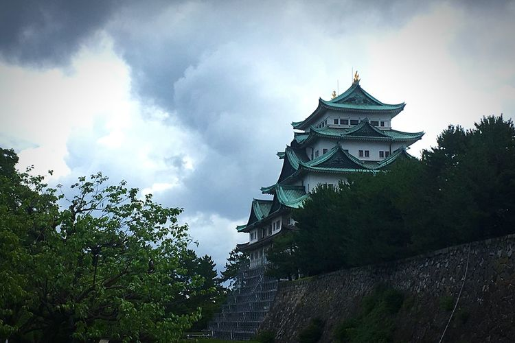 Nagoya Castle Photography Nippon Château Cloud - Sky Japan Castle History Building Exterior Architecture Sky Cloud - Sky Built Structure Low Angle View Tree Building Nature History Travel Destinations No People Travel Outdoors The Past Religion Plant