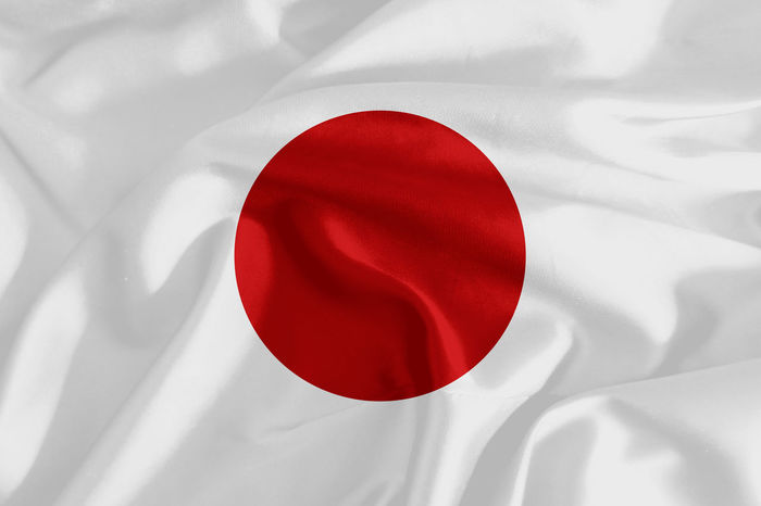 Flag of Japan Backgrounds Bed Close-up Crumpled Day Fabric Indoors  Japan Japan Flag No People Red Satin Sheet Silk Textile White Color