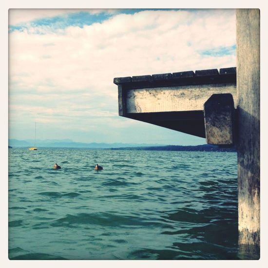 Swimming Steg Starnbergersee Percha