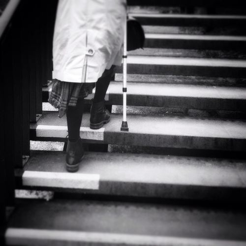 The journey Old Lady Oldie  Old People Stairs City Street City Life