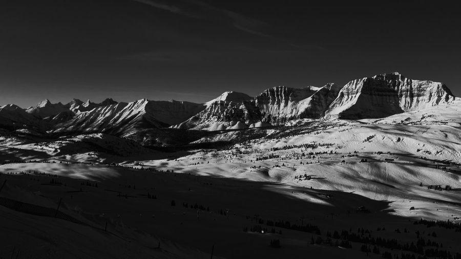 Black & White Mountain Sky Snow Scenics - Nature Beauty In Nature Cold Temperature Snowcapped Mountain Cloud - Sky Winter Landscape Mountain Range