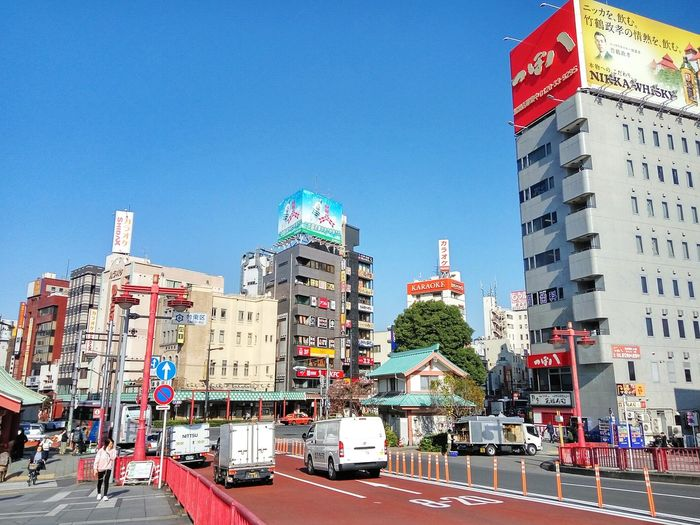 Japanese City Skyscraper Red Street Tokyo Asakusa Japan City No People Travel Destinations Day Outdoors Clear Sky Sky