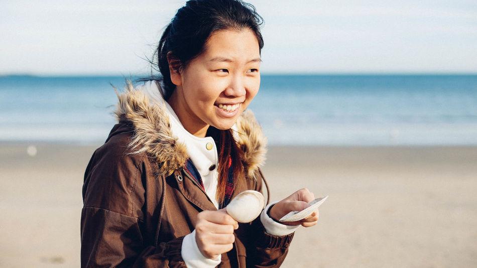Beach Coastline Golden Hour Lifestyle Ocean Revere Beach Sand Shells Waterfront Natural Light Portrait