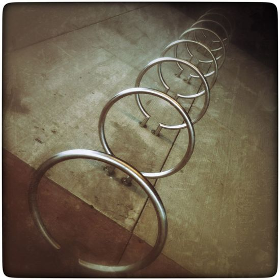 Metal rings. Photography IPhoneography YYC Abstract