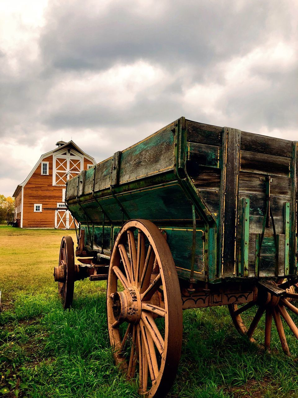 OLD CART ON FIELD