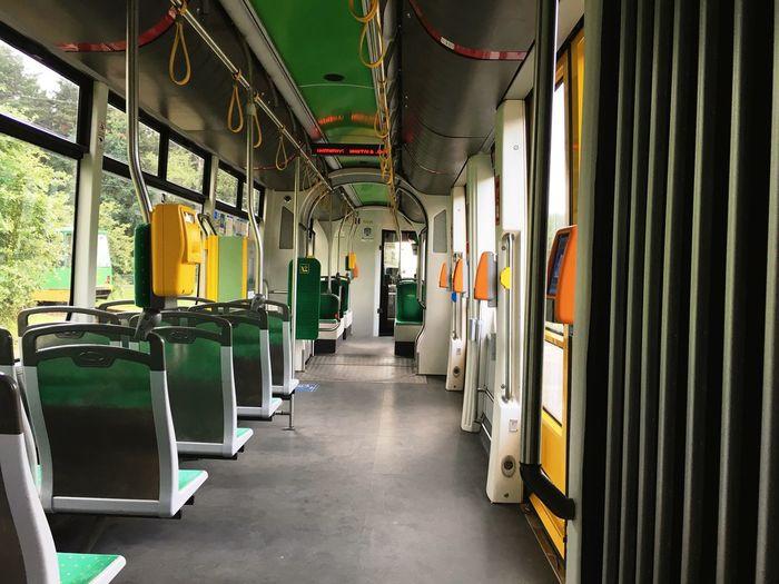 Tram interior