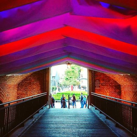 Colorful Tunnel . Fabric Cloth Color Shopping Mall Bridge Brick Bricks Wood Comercial Urban Picoftheday Instagood Instalike Instadaily Buenosaires