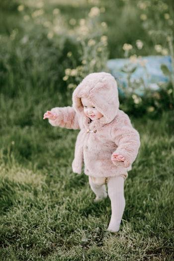 Stuffed toy on field