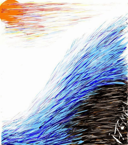 The sea waves💨🌊 It was drawn by me in 2013 on ipad Weather Draw Drawn By Me Drawing - Art Product Drawing - Activity Drawing, Painting, Artwork Sea Dreams First Eyeem Photo Multi Colored Zeichnung  Zeichnen Draw By Me Drawingbyme No People Sea Waves No People Outdoors Drawing ✏ Drawingtime