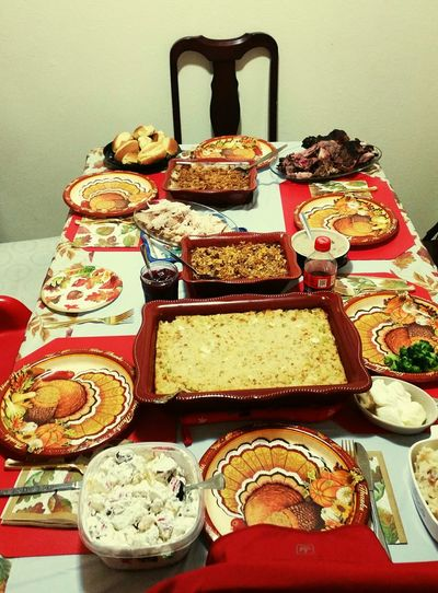 I'd forgotten to post Turkey Day food. Table Food Food And Drink Indoors  No People Close-up Freshness Ready-to-eat Day Holiday - Event Tradition My Original Photo Popular Photos Thanksgiving Dinner 2017