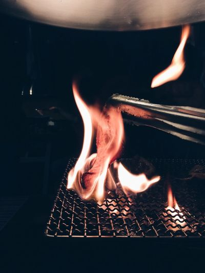 Cooking Food On Grill