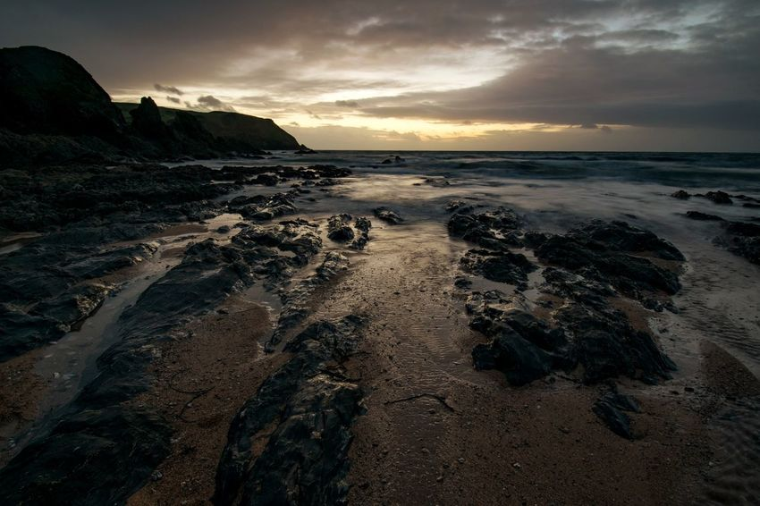 Hope Cove Beach Sunset Landscape Devon Sea Hope Cove Dramatic Sky Travel Destinations Cloud - Sky Outdoors Sand Nature Water Tourism Sky Low Tide Horizon Over Water First Eyeem Photo EyeEmNewHere