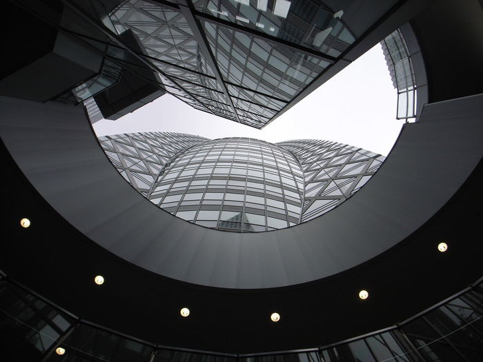 Perspective Reflection Lights Skyscraper Skyline Outdoors Japan Tokyo Architectural Feature Architecture Building Built Structure Ceiling Geometric Shape Glass - Material Low Angle View Modern No People Pattern Shape Skylight Window Office Building Architectural Detail Architectural Design Concentric Tall - High Financial District  Stained Glass Ceiling Light