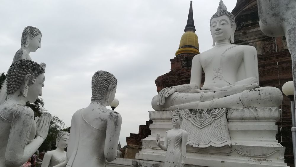 I love Thailand 😍 ASIA Travelling Statues Buddha Buddhism Buddha Statue Travel Photography Thailand Spirituality Religion Pagoda Travel Destinations Ancient Old Ruin No People Outdoors
