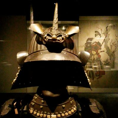 According to the curator at the Museum of Natural Science, this is the actual samurai helmet that George Lucas based Darth Vader's helmet design on. Blackdeathcrew Darthvader Samurai