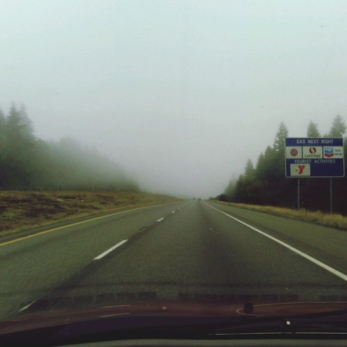 Road Fog Quiet PNW