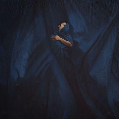 永眠 Fine Art Photography Blue Sleep Self Portrait BoShiuan Photoshop Shiuanphoto Composite