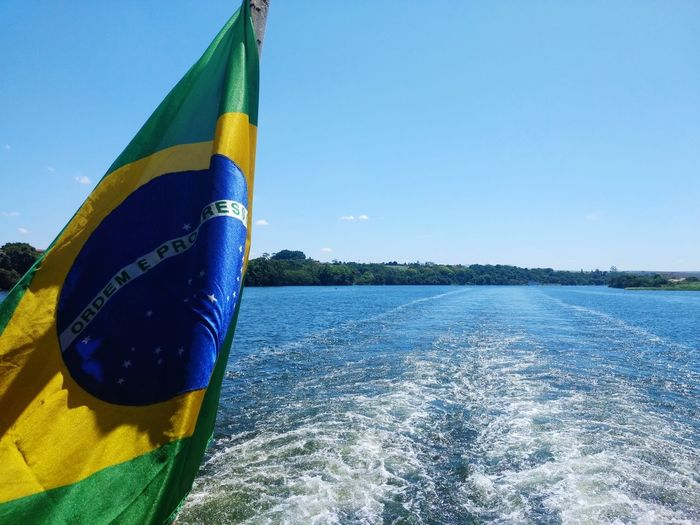 brazil Boating Boat Ride Brazil Bandeirabrasileira Bandeira Do Brasil Brazilian Flag EyeEmNewHere Water Blue Multi Colored Summer Sky Water Slide Water Park