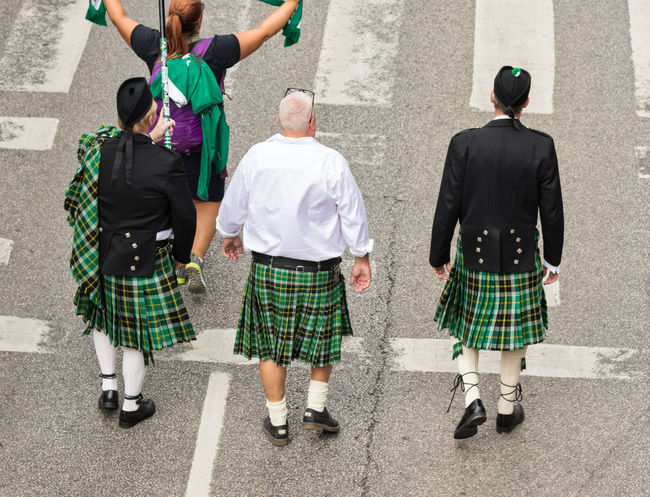 Stockholm Pride Parade 2017 Stockholm Pride 2017 Adults Only Cultures Day Kilt Lgbt Marching Outdoors Parade People Pride Parade 2017 Rear View Tradition Traditional Clothing