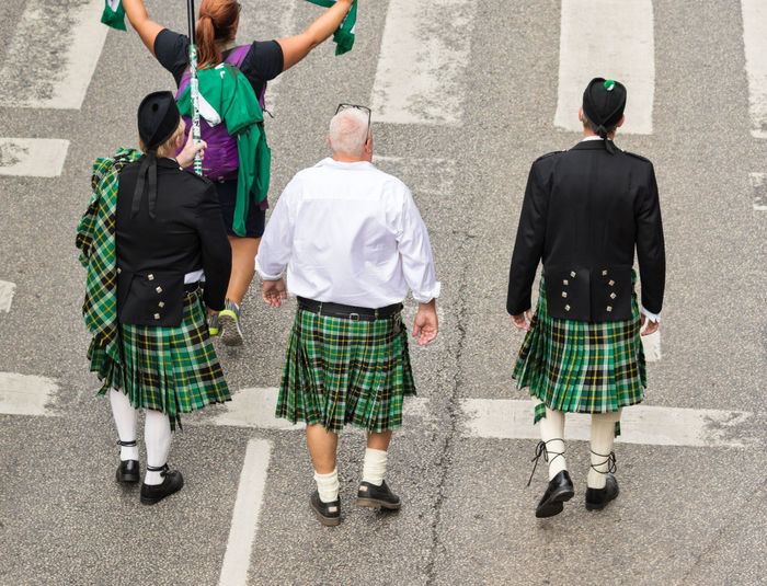 Stockholm Pride Parade 2017 Stockholm Pride 2017 Adults Only Cultures Day Kilt Lgbt Marching Outdoors Parade People Pride Parade 2017 Rear View Tradition Traditional Clothing Love Is Love