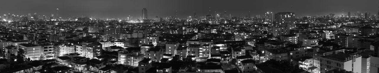 An ultra wide panorama of Bangok from Din Daeng. Architecture ASIA Asian  Background Bangkok Beautiful Beauty Black Building Business Capital Cities  City Cityscape Dark Din Daeng Holiday Landscape Modern Nathong Night Panorama Ratchadapisek Skyline Soi Travel
