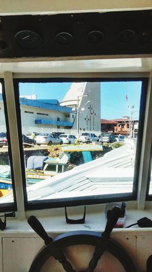 Boat Helm Window
