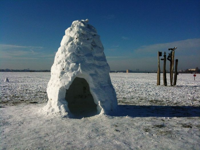 Iglu on Tempelhofer Feld Tempelhofer Feld Snow Iglu Nature Beach Sand Day Outdoors Beauty In Nature Sky