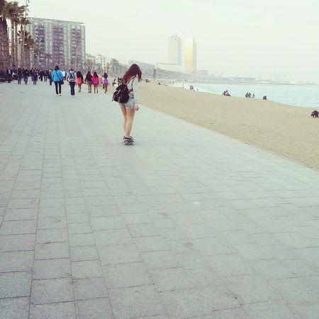 Skater Girl Skate Beach