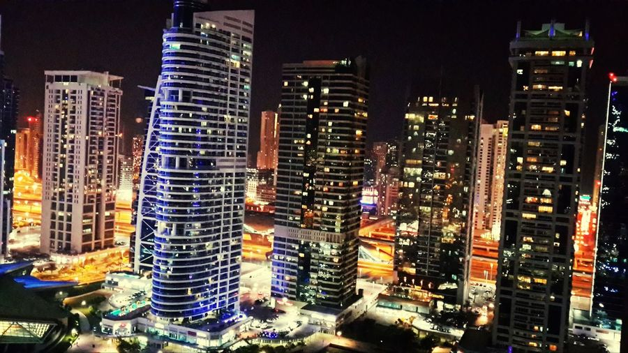 Tonight we party in JLT towers. Gotta love this city! Dubai City Architecture