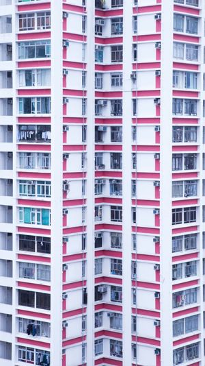Building pattern Pattern Old Buildings Lifestyles Hongkong Photos HongKong Architecture Residential Building Housing Development In A Row Architecture Apartment Day City Community
